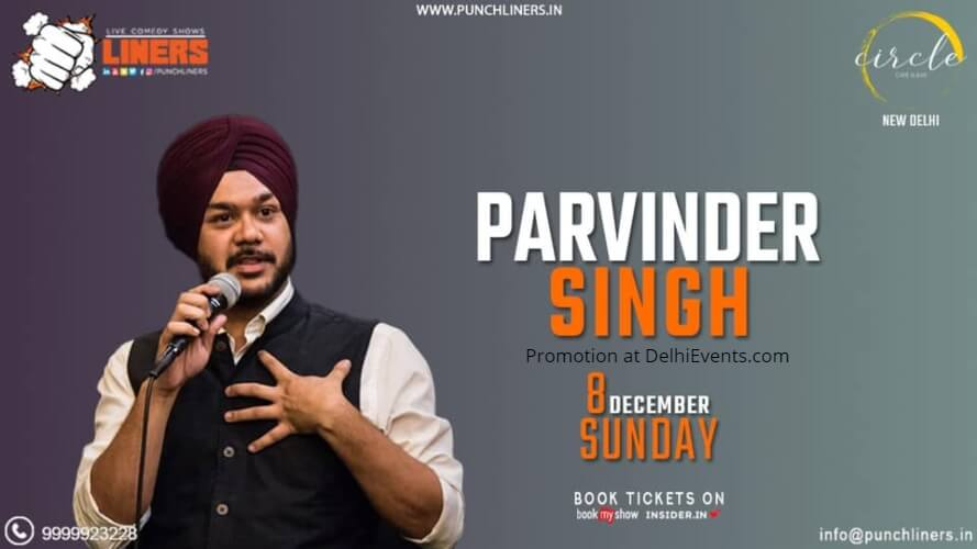 Standup Comedy Parvinder Singh Circle Cafe Kalkaji Creative