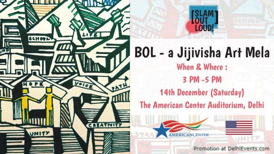 Bol Jijivisha Art Mela American Center Kasturba Gandhi Marg Creative