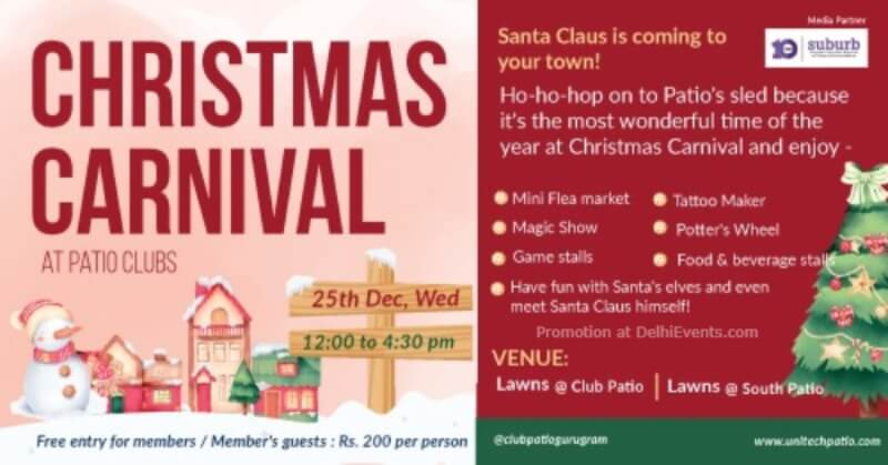 Christmas Carnival Patio Clubs Gurugram Creative