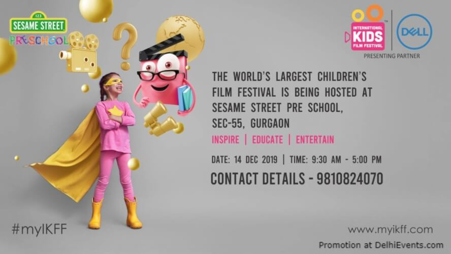 International Kids Film Festival Ikff Sesame Street Pre School Nursery Gurugram Creative
