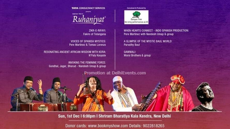 Ruhaniyat Music Festival Shriram Bharatiya Kala Kendra Mandi House Creative