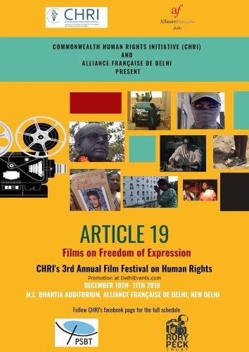 Chris 3rd Annual Film Festival Freedom Expression Alliance Francaise Lodhi Road Creative