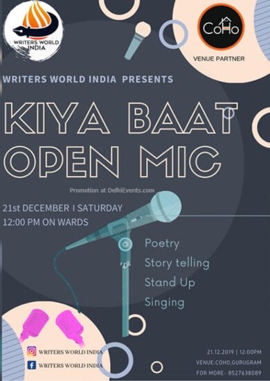 Kiya Baat Open Mic CoHoin Sec24 Gurugram Creative