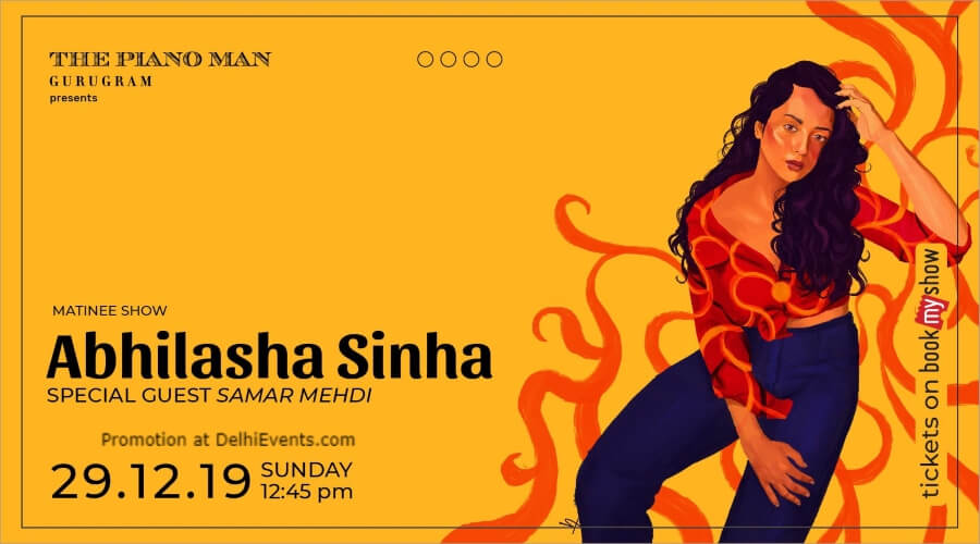 Abhilasha Sinha special guest Samar Mehdi Matinee Special Piano Man Gurugram Creative