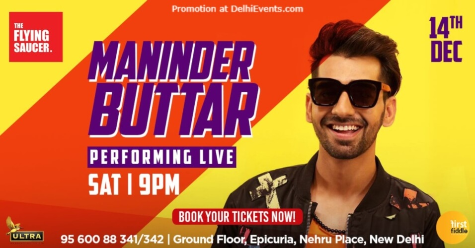 Maninder Buttar Performing Flying Saucer Cafe Nehru Place Creative