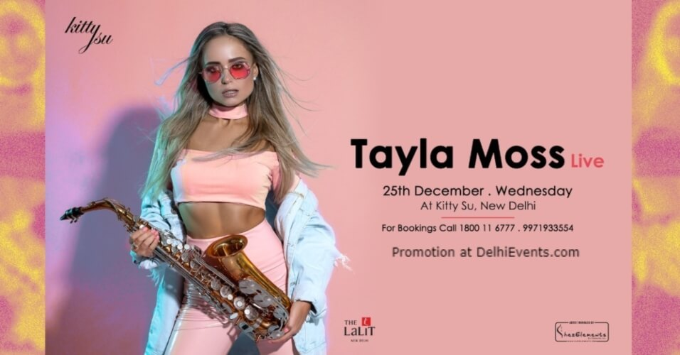Merry Christmas DJ Saxophonist Tayla Moss Kitty Su Lalit Connaught Place Creative