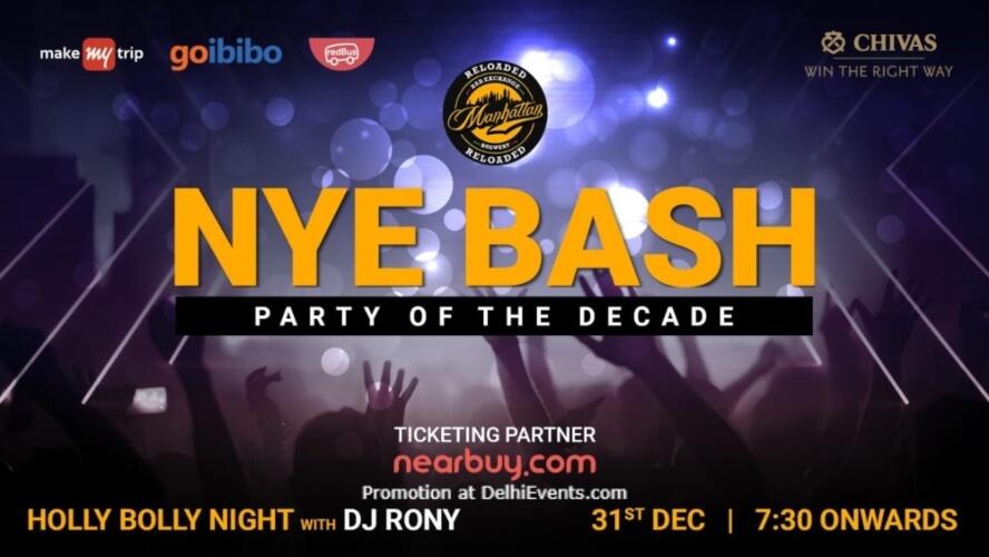 NYE Bash Party Decade Manhattan Bar Exchange And Brewery Gurugram Creative