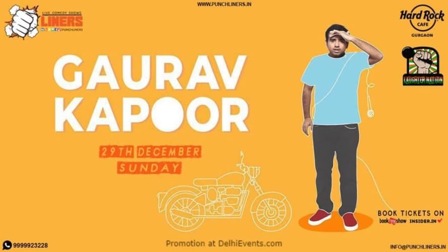 Punchliners Comedy Show Gaurav Kapoor Hard Rock Cafe Gurugram Creative