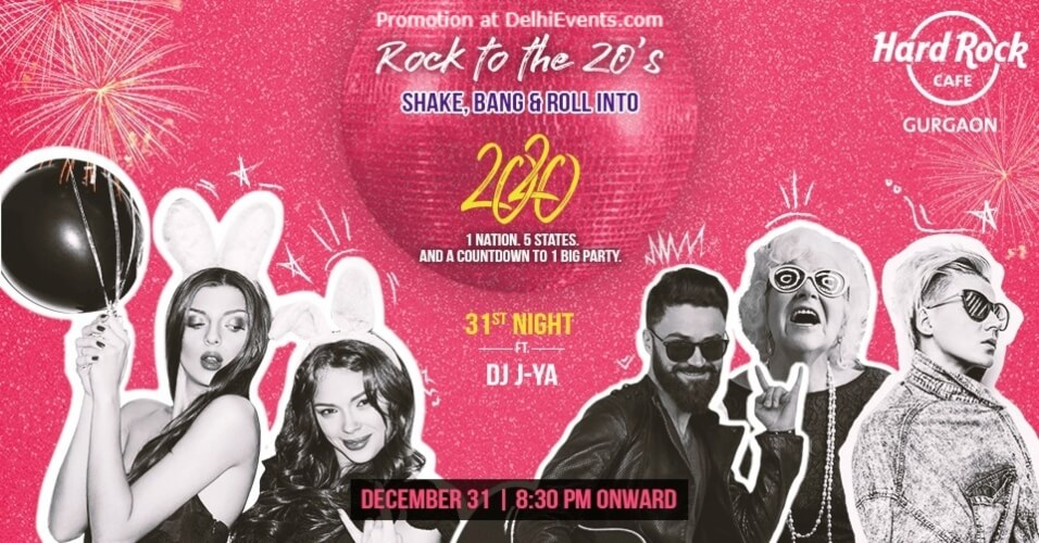 Rock 20s New Years Eve DJ JYa Hard Cafe Gurugram Creative