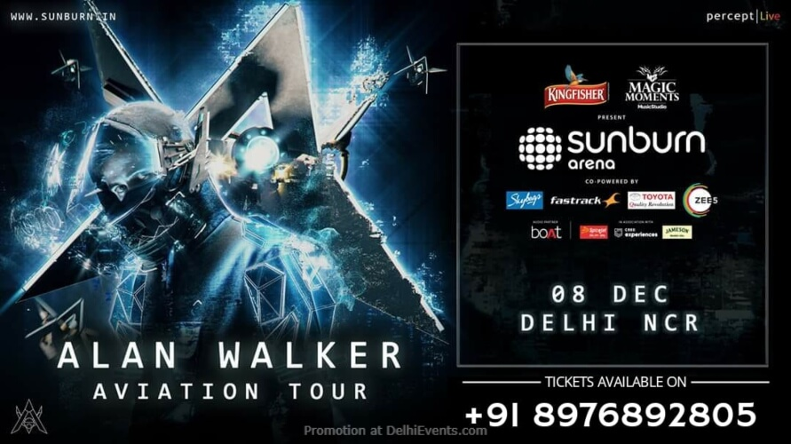 Sunburn Arena Alan Walker Backyard Sports Club Gurugram Creative