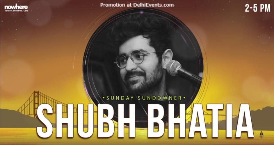 Sundowner Shubh Bhatia Nowhere Terrace BrewPub Cafe Gurugram Creative