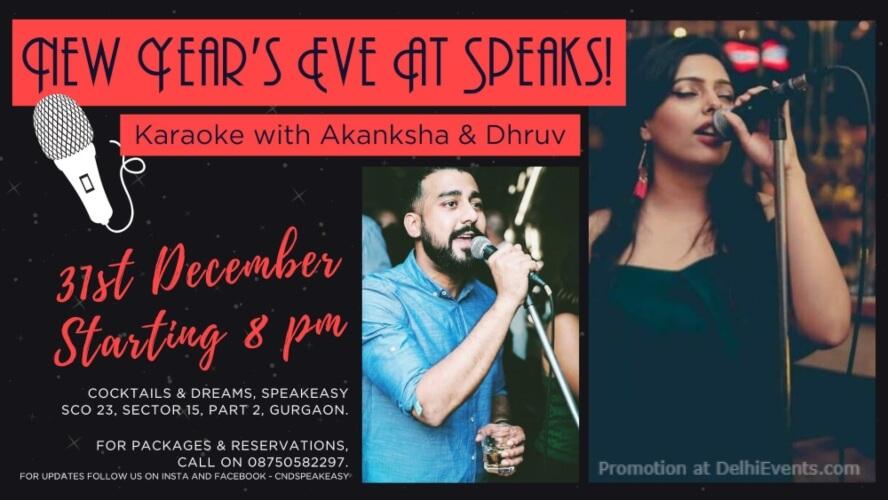 New Years Eve Karaoke Akanksha Dhruv! Cocktails Dreams Speakeasy Gurugram Creative
