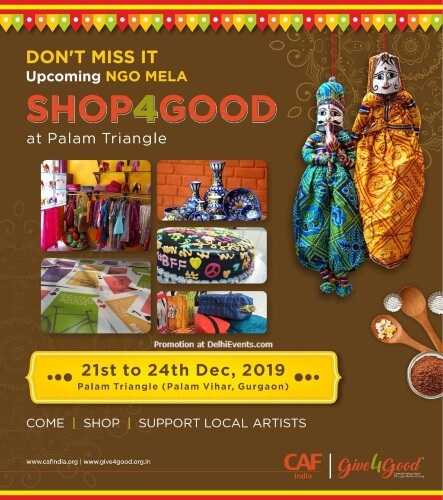 Charities Aid Foundation CAF NGO Mela Four Day Shopping Festival Palam Triangle Gurugram Creative