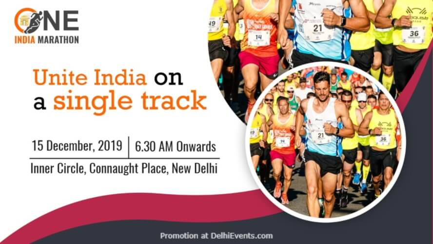 One India Marathon Inner Circle Connaught Place Creative