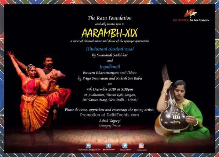Raza Foundation Aarambh XVII Music Dance Fest Triveni Kala Sangam Mandi House Creative
