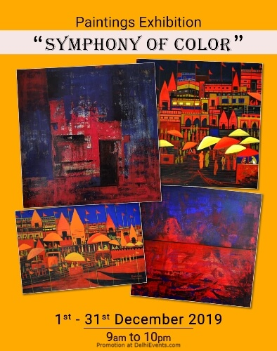 Symphony Color Painting Exhibition Shikha Pandey Vivanta Taj Dwarka Creative