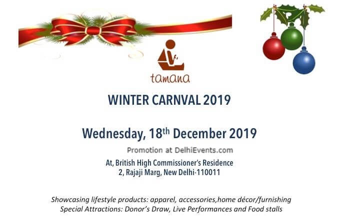 Tamana Winter Carnival 2019 British High Commissioners Residence Rajaji Marg Creative