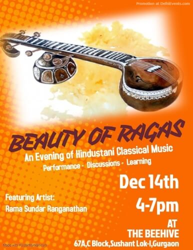 Beauty Ragas Evening Hindustani Classical Music Beehive Gurugram Creative