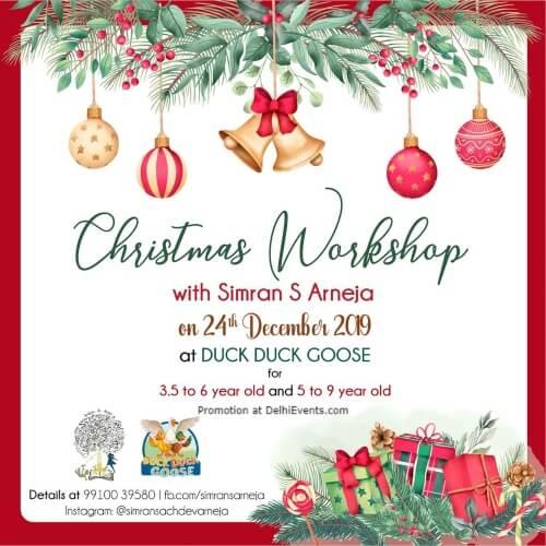 Christmas Workshop Simran S Arneja Duck Goose Rajouri Garden Creative