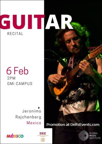 Guitar Recital interactive session Mexican artist Jeronimo Rajchenberg Global Music Institue Creative