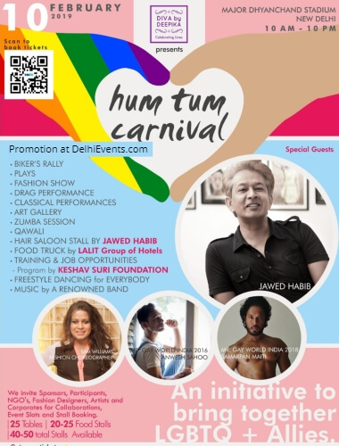 Hum Tum Carnival support LGBTQIA community Major Dhyan Chand National Stadium Creative