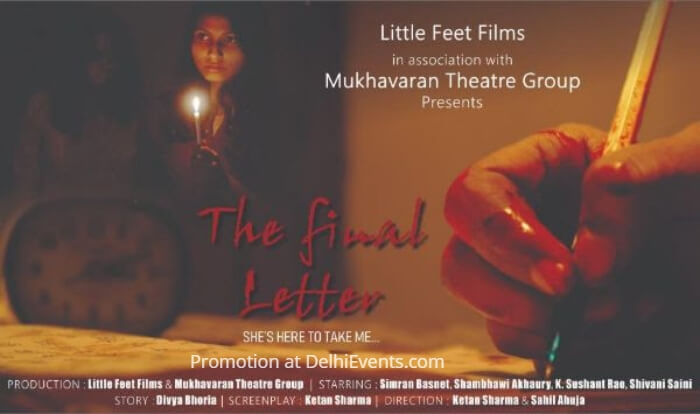 Little Feet Films Mukhavaran Theatre Group Final Letter Hindi Play Creative