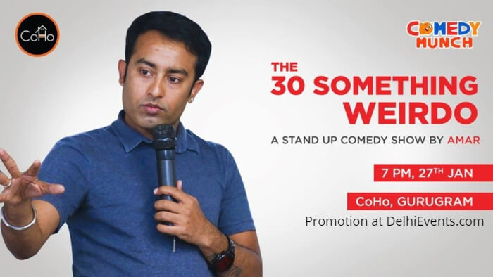 Comedy Munch 30 something weirdo Hinglish standup Amar Coho Creative