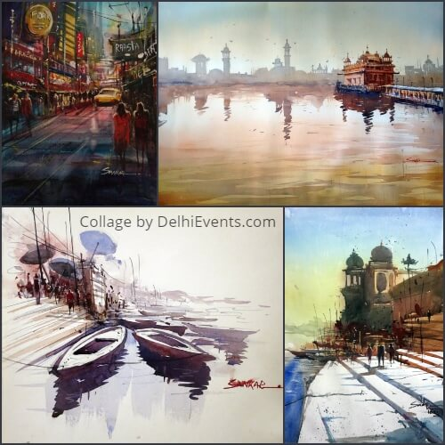 Colorart group show paintings seven artists Exhibition Artworks
