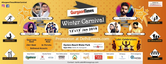 Gurgaon Times Winter Carnival Appu Ghar Oysters Water Park Creative