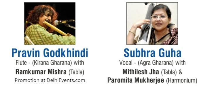 Musicians Pravin Godkhindi Subhra Guha