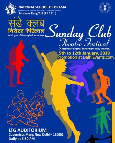 NSD Sanskaar Rang Toli TIE Sunday Club Theatre Festival LTG Creative