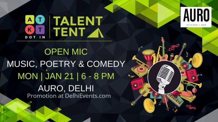 Talent Tent Music Poetry Comedy Open Mic Auro Kitchen Bar Creative