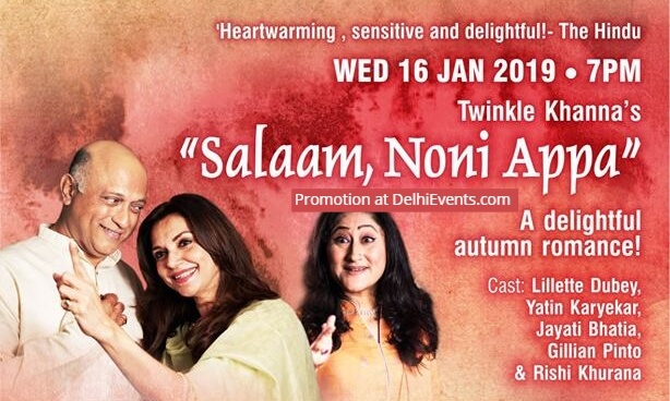 Twinkle Khanna Salaam Noni Appa English Play Kamani Creative