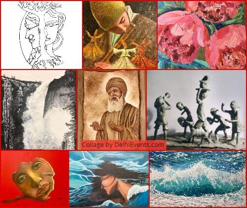 Beyond Colours group Show paintings sculptures Amrita Prakash Artworks