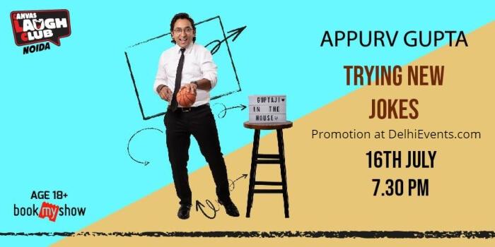 Trying Jokes Trial Show Standup Appurv Gupta Canvas Laugh Club Creative