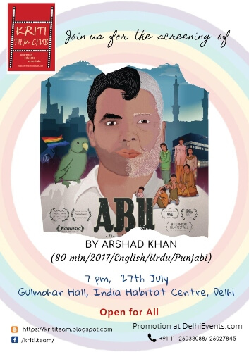 Kriti Film Club Abu Father India Habitat Centre Creative
