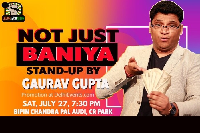 Laughter Nation Baniya Standup Gaurav Gupta Bipin Chandra Pal Auditorium Creative