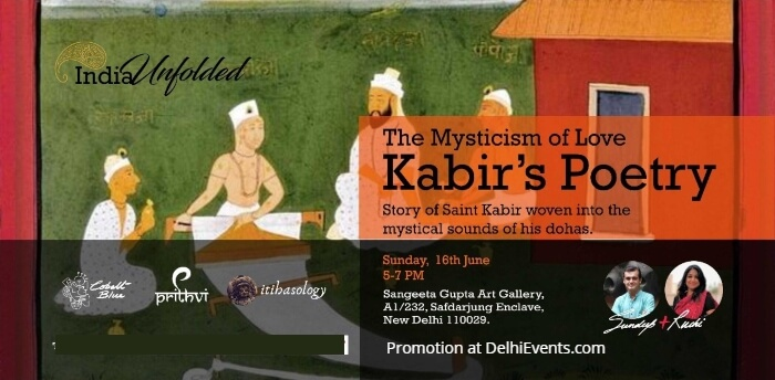 Cobalt Blue Foundation Mysticism Love Kabir Poetry Sangeeta Gupta Art Gallery Creative