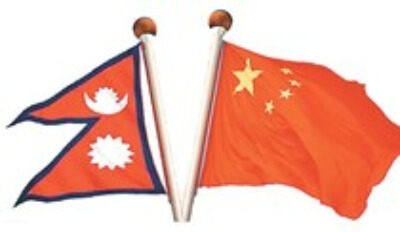 Nepal China Flags