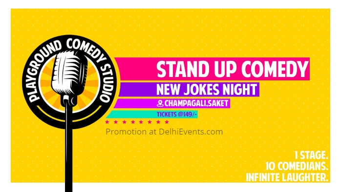 New Jokes Night standup Playground Comedy Studio Creative