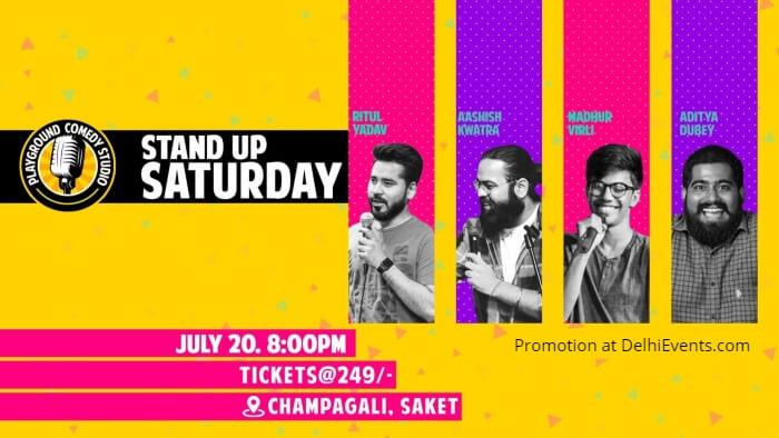 Standup act Ritul Yadav Madhur Virli Aditya Dubey Ashish Kwatra Playground Comedy Studio Creative