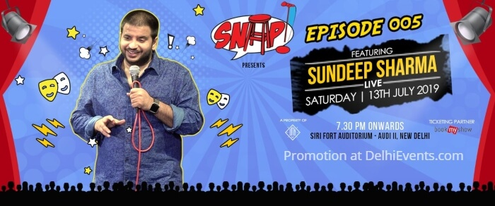 SNAP Episode 005 Sundeep Sharma standup Sirifort Auditorium Creative