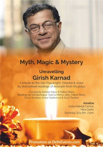 Tribute late Girish Karnad Dramatized Reading India Habitat Centre Creative