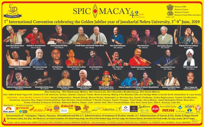 7th International Convention SPICMACAY JNU Creative
