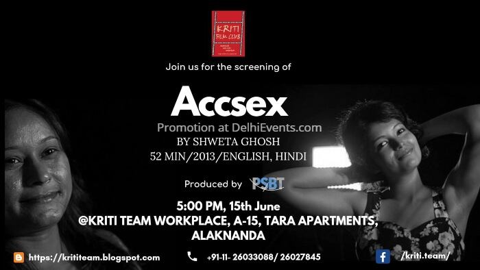 Kriti Film Club Accsex documentary screening Creative
