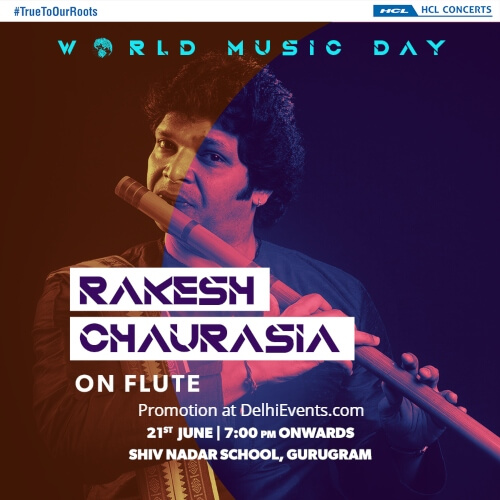 Parampara Reloaded World Music Day Rakesh Chaurasia Shiv Nadar School Creative