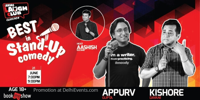 Best Standup Appurv Kishore Aashish Canvas Laugh Club Creative