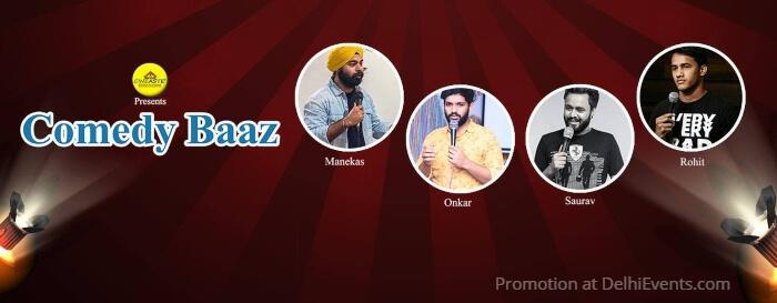 Cineaste Comedy Baaz Standup Manekas Mehta Saurabh Pandey Onkar Yadav Rohit Singh Creative