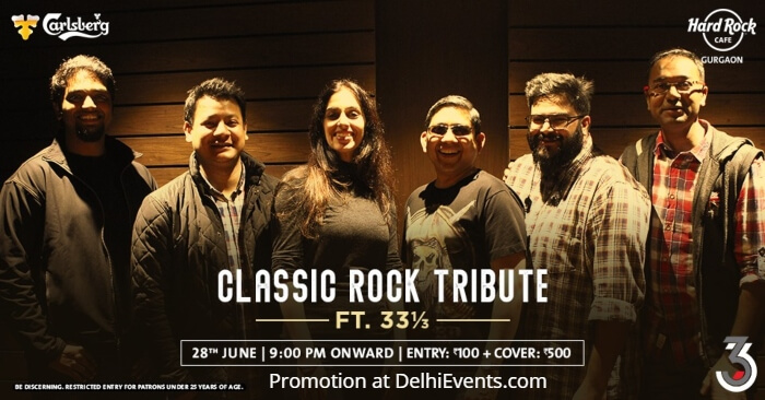 Classic Rock Tribute 33⅓ Friday Night Hard Rock Cafe Creative