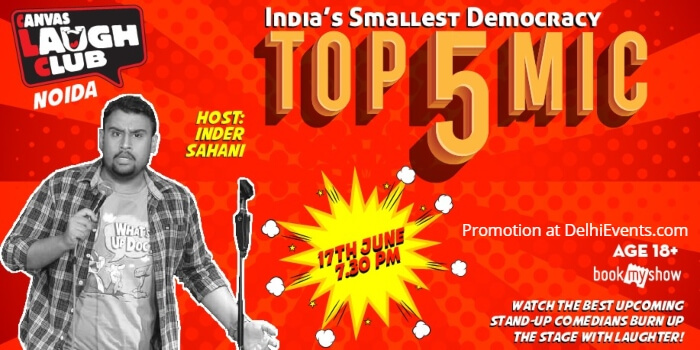 Top 5 Open mic standup Inder Sahani Canvas Laugh Club Creative